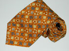 Men's IKE Behar New York Yellow   Silk Neck tie made in Spain
