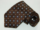 Men's Ike Behar New York Brown  Silk Neck tie made in USA