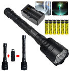 48000LM Police Tactical T6 3-LED 5 Modes 18650 Flashlight Torch +6*18650+Charger
