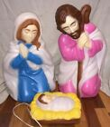 Empire Industries Inc 3 Pc Blow Mold Lighted Outdoor Holy Night Nativity Scene