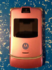 Motorola RAZR V3 Cellular Phone Pink Not Working For Repair or Parts Only