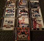 PLAYSTAYION GAME LOT: WCW, NBA LIVE 98, ANDRETTI RACING, MADDEN 2000....