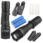 2x Tactical Zoom LED 2500Lumens Ultra Bright Flashlight Focus Lamp Torch