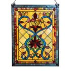 Stained Glass Victorian Design Tiffany Style Window Panel  LAST ONE THIS PRICE