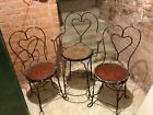 Antique Wrought Iron Ice Cream Parlour Chairs, SET OF THREE, AWESOME ORIGINALS!