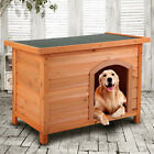 Weather Resistant Dog House Wooden Pet Shelter Cage XL doggie Home Outdoor