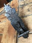 Vintage Ornate Brass 7 1/4 Inches Long Door Cupboard Handle Latch Hardware