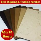 20x Mulberry Paper Sheets Handmade Natural Brown Invitation Card Craft Art A5
