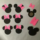 30 Disney Minnie Mouse Heads 25 Inch Die Cuts w bowsConfettiScrapbookParties