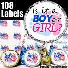108 Gender Reveal Party Favor Stickers Boy or Girl Surprise Hershey Kiss Labels