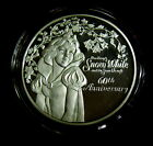 Snow White 60th 1997 Disney 999 Silver1 oz Medallion 7 Dwarfs Scarce