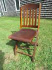 ANTIQUE circa 1920 signed FENWAY PARK OAK CHAIR, HOME OF BOSTON RED SOX