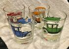 Vintage Set of 4 Hazel-Atlas Antique Car / Classic Cars Old Fashioned Glasses