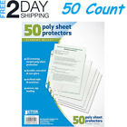 Sheet Page Protectors Office Clear Plastic Document Binder Photo Sleeves Open