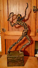 Mid Century Modern Signed Paco Valle Coated Wire Sculpture Tennis Player