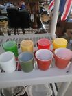 Vintage Fire king Coffee Cups 6 stackable