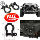 2 Pack D Ring Shackles Tow Snatch Straps 7 8 JEEP Off Road Heavy Duty 9500 lbs