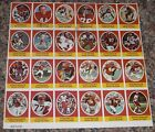 Sunoco Football Stamp Sheet Kansas City Chiefs 24dif Cards New Player DAMAGED