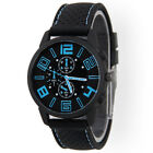Men Fashion Casual Stainless Steel Sport Cool Hours Quartz Wrist Analog Watch A