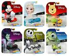 2018 Hot Wheels Set of 6 Disney 1 64 Character Cars Collectible Die Cast Cars