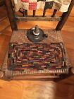 Primitive Hit or Miss Hand Made Hooked Rug - Shabby and Old Looking