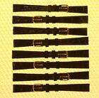 [Lot of 8] 11mm JBC Leather Watch Strap Band BROWN Croco-Grain <NWoT>