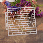 13cm Brick Craft Layering Stencils Wall Paint Scrapbook Stamp Embossing Template