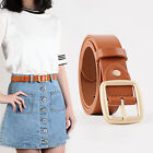 New Womens Jeans Waistband Vintage Waist Strap Leather Buckle Belt Casual Dress