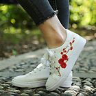 Women Shoes Embroidery Flower Female Chic Casual Sneakers Leather Lace Up Floral