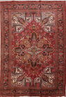 Super Deal Collectible Vintage Geometric 8x11 Heriz Persian Oriental Area Rug