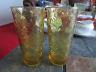 Anchor Hocking Optic Amber Water Ice Tea Tumbler lot of 2