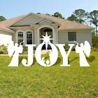 Joy Christmas Yard Sign Decorations Outdoor Creche Lawn Nativity Figurines Scene