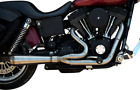 Trask Assault 2 into 1 Stainless Steel Exhaust 1991 05 Harley Dyna