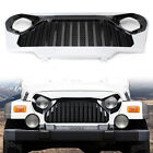 Front Gladiator Grill Grille W Mesh for 1997 2006 Jeep Wrangler TJ White