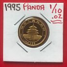 1995 China Gold Panda 1/10 oz - Low Mintage - Hairlined