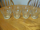 Palaks Pasabahc Set of 8 Vintage Tumblers -10 Panel Glass ~ Made in Turkey