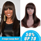 Women Long Straight Synthetic Hair Wigs with Bangs Half Wigs Cosplay Party Wigs