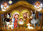 Cartoon Christmas Nativity Scene Horse 10X8FT Photo Vinyl Backdrops Background