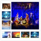 Xmas Christian Jesus Nativity Sheepfold 10X8FT Vinyl Studio Backdrops Background