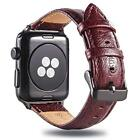 HOT Vintage Leather Band Strap For Apple Watch 42mm / 44mm Series 4/3/2/1 Red
