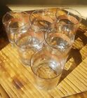 Bundle 6 1950s Culver 22k Lowball Scotch Rocks Glasses with Brass Bamboo Carrier