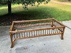 Vintage Bamboo Chinese Chippendale Coffee Table Palm Beach No Glass
