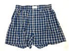 One(1) Tommy Hilfiger Men's Woven Boxer, Blue Plaid, Size Small