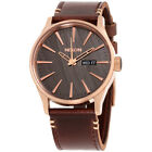 Nixon Sentry Gunmetal Dial Leather Strap Men's Watch A105200100