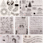 Girl Transparent Silicone Stamp Clear Rubber Cling DIY Diary Scrapbooking Card