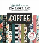 Echo Park Double Sided Paper Pad 6X6 24 Pkg Coffee 12 Designs 2 Each 2 Pack
