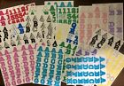 Lot Creative Memories Alphabet Stickers 22 Sets Incomplete 2 cm Tall
