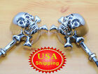 Skull Turn Signal Light for Harley Crusier Chopper Motorcycle Custom LED Chrome