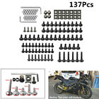 137X M6 Black Motorcycle Fairing Bolts Kit Spire Speed Fastener Clips Screw Nuts