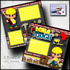 BUILT TOUGH 2 premade scrapbook pages paper piecing boy toolbox CHERRY 0039